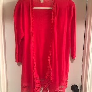 Lightweight Coral Sweater from Chico's MEDIUM
